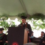 Lt. Gov. Shan Tsutsui speaking at UHWO Graduation Ceremony