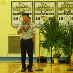 Lt. Gov. Shan Tsutsui speaking at Laupahoehoe
