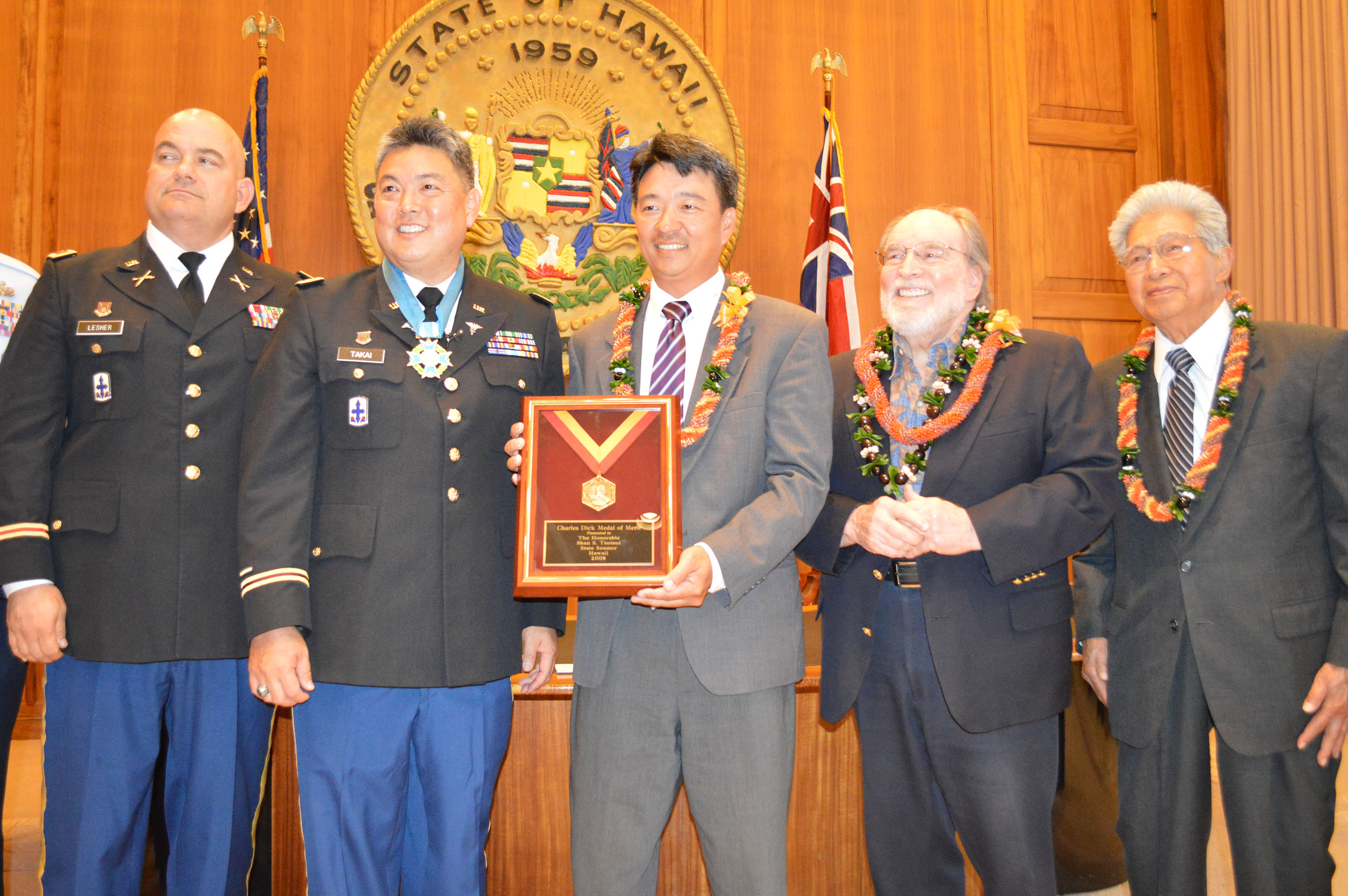 Lt. Gov. Awarded Charles Dick Award