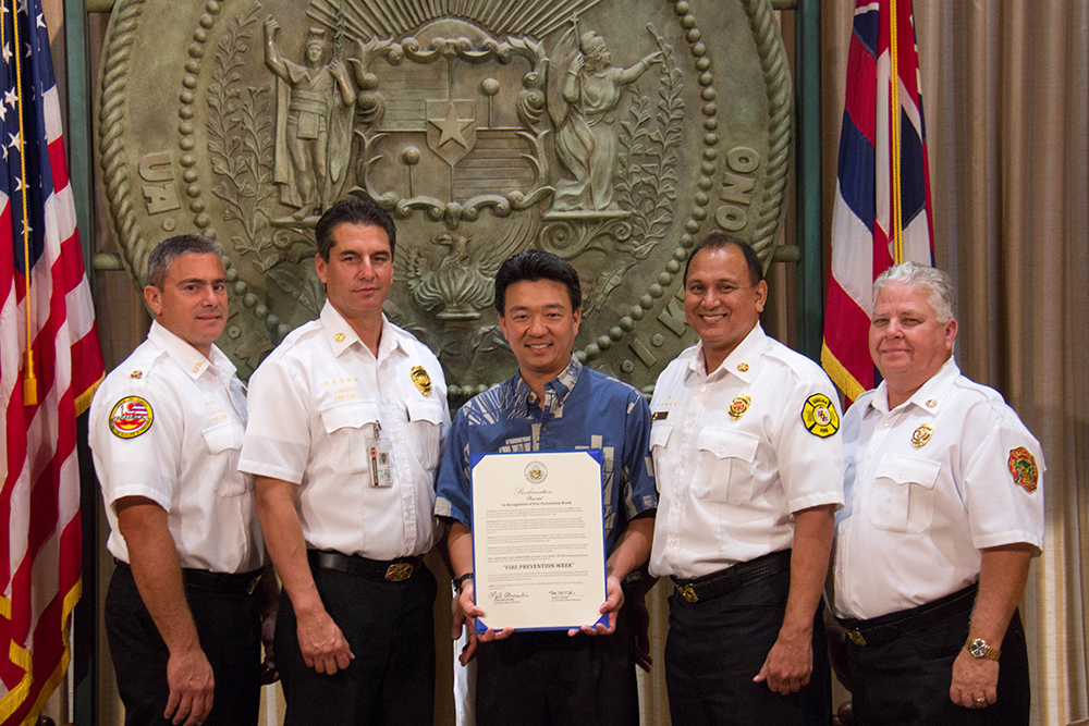 County Fire Chiefs- Fire Prevention Week Proclamation