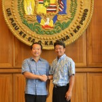 Lt. Gov. Tsutsui and Director General Chow
