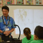 Lt. Governor Tsutsui reading to 3rd graders
