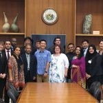 LT. GOVERNOR CHIN MEETS WITH EAST WEST CENTER SENIOR JOURNALISTS