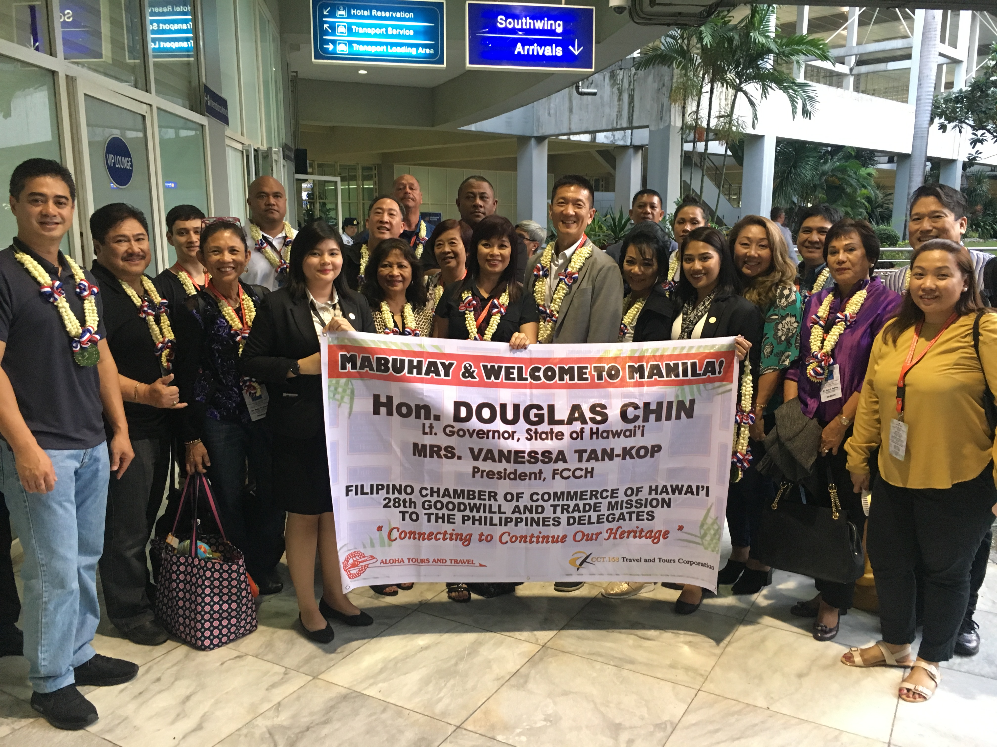 28th Goodwill & Trade Mission Delegation arrive in Manila