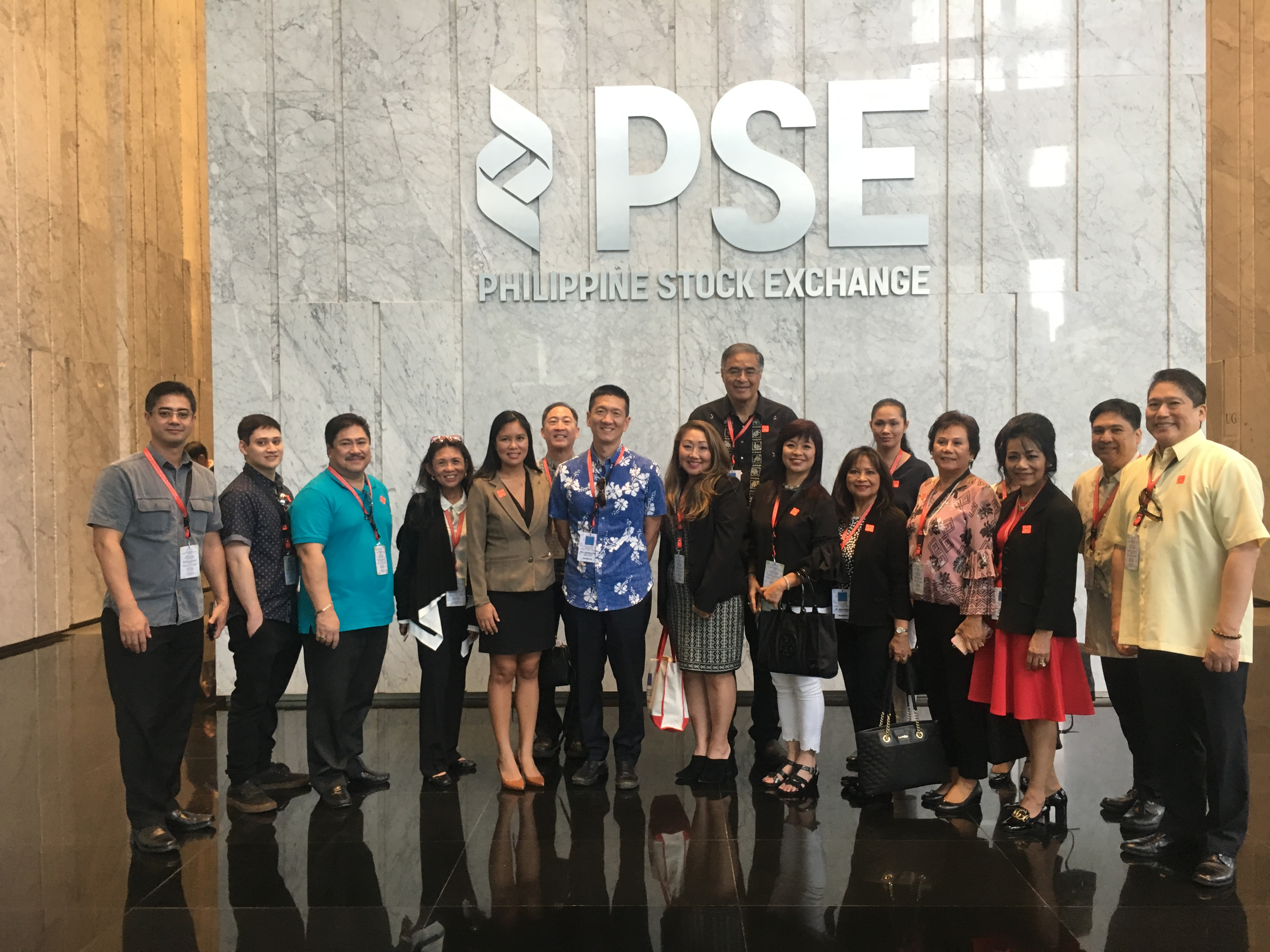 Delegation at the Philippine Stock Exchange