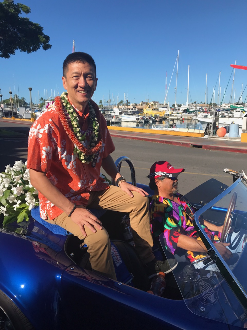 Lt. Governor Chin in the 72nd Annual Aloha Festival Floral Parade